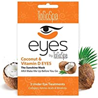 To Go Spa Coconut Eyes Treatment for Unisex - 3 Pair Eye Mask, 45.36 grams
