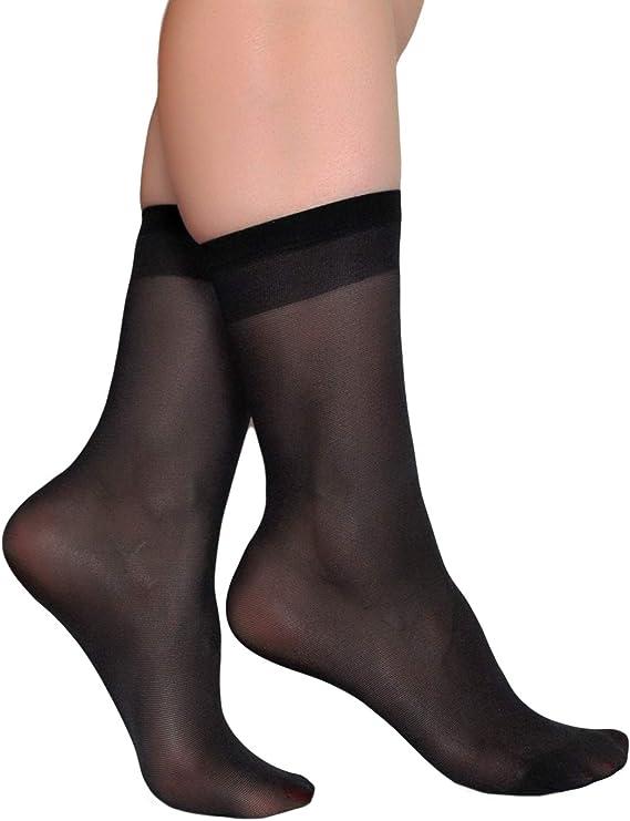 5 Pack Womens Ankle High Sheer Socks Silky Hosiery