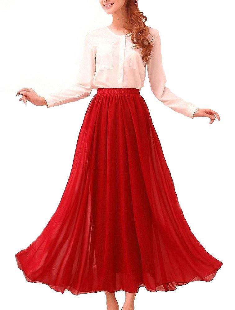 Saloon Girl Costume | Victorian Burlesque Dresses & History Afibi Womens Chiffon Retro Long Maxi Skirt Vintage Dress $19.99 AT vintagedancer.com