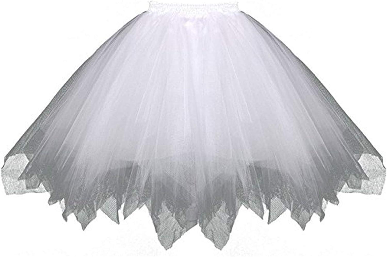 Udresses Womens 1950s Vintage Tulle Petticoat Tutu Ballet Bubble Skirt Short P14 2X-Large
