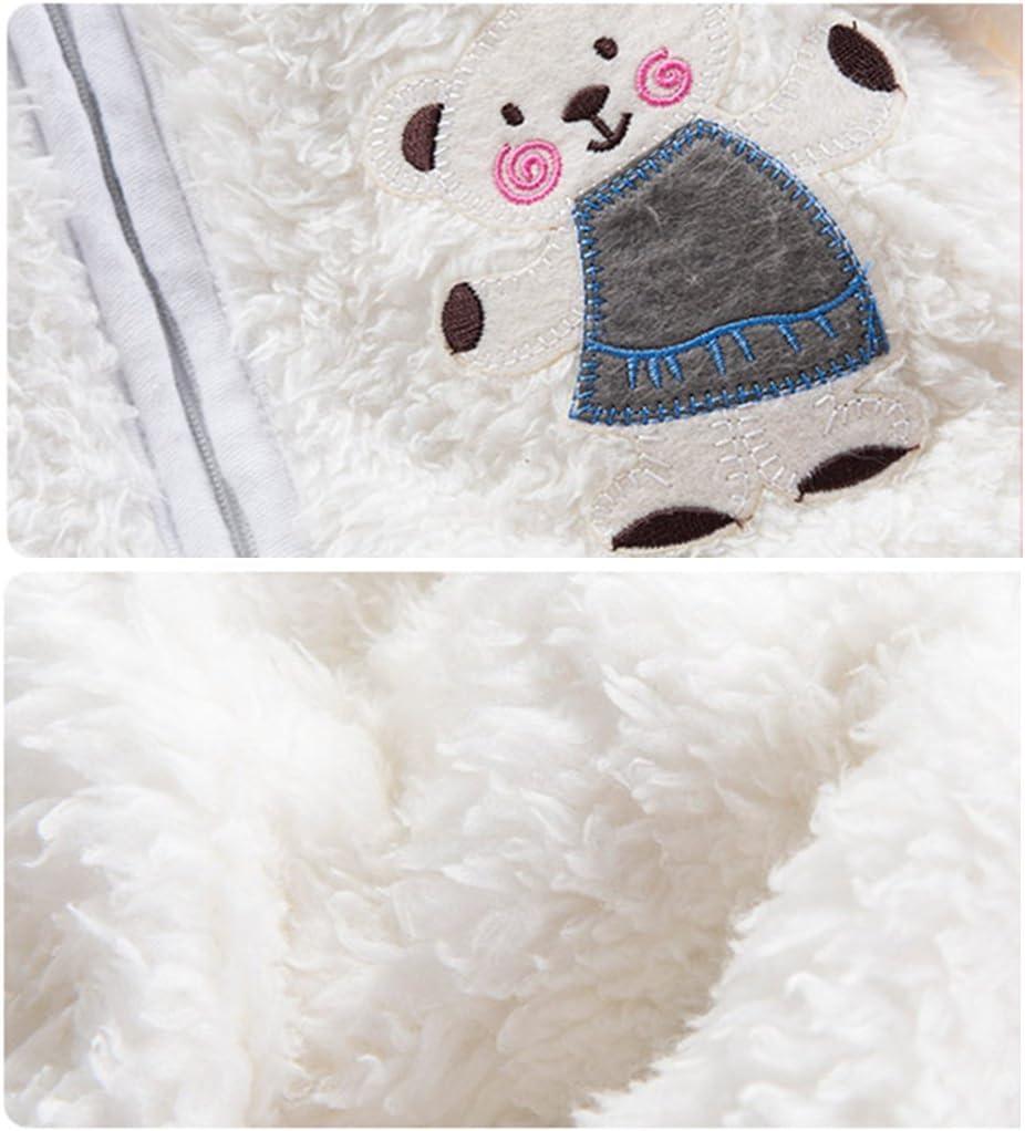 Reci/én nacido Beb/é Traje de Invierno Mameluco con Capucha Traje de Nieve Oso Ropa de Invierno Fleece Pelele Azul 0-3 Meses