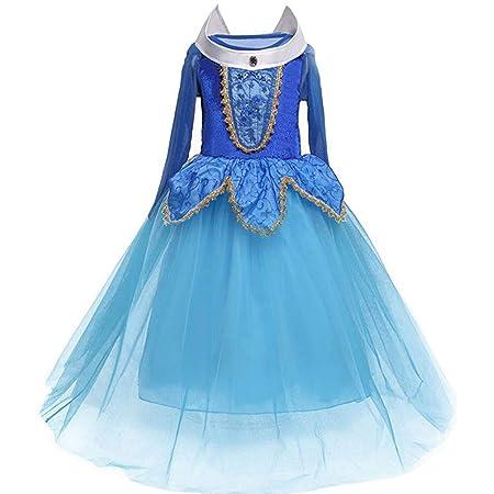 TXYFYP Niña Princesa Vestido - 110-150cm Algodón Poliéster Niña ...