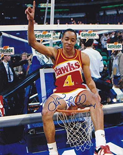 Signed Spud Webb Photograph - SLAM DUNK CONTEST 8x10 - Autographed NBA Photos 8x10 Action Nba Photo
