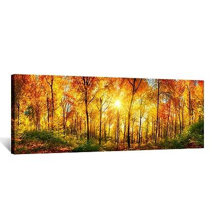 Amazon.com: Kreative Arts - Large Wall Art Autumn Scenery Canvas ...