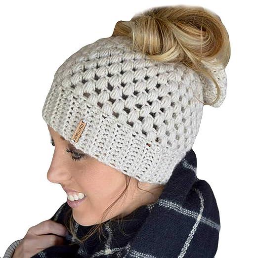 Connia Womens Girls Twisted Knit Wig Cap Fashion Beautiful Bohemia Handmade  Warm Elasticity Hat 66c832162