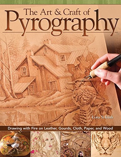 The Art & Craft of Pyrography: Drawing with Fire on Leather, Gourds, Cloth, Paper, and Wood (Fox Chapel Publishing) More Than 40 Patterns, Step-by-Step Projects, and Expert Advice from Lora S. Irish by Design Originals (Image #9)