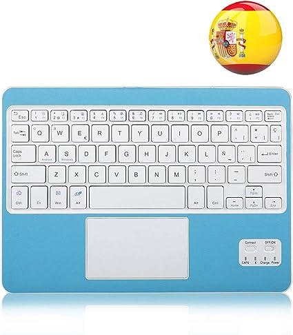 Wasan Teclado Bluetooth en Español con Touchpad Tactil QWERTY ...