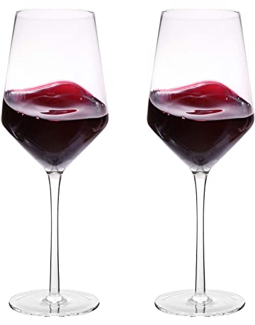 05ce1fad27f Hand Blown Crystal Wine Glasses - Bella Vino Classy Red White Wine Glass  Made from