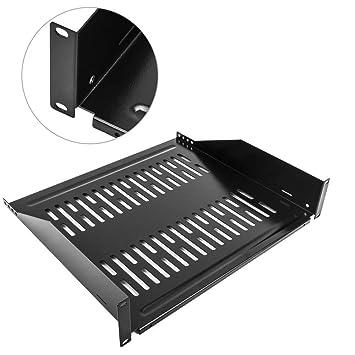 RackMatic - Bandeja Rack de fijación Frontal de 2U y Profundidad 400 mm