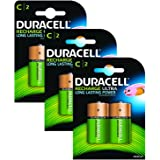 Duracell Rechargeable C Size Batteries--Pack of 6