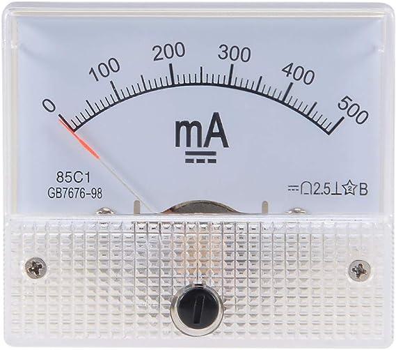 Sourcing Map 1 Stück 85c1 Analog Stromanzeiger Meter Dc 500ma Amperemeter Ampere Prüfgerät De De Auto