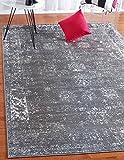 Unique Loom Sofia Collection Dark Gray 9 x 12 Area Rug (9' x 12')