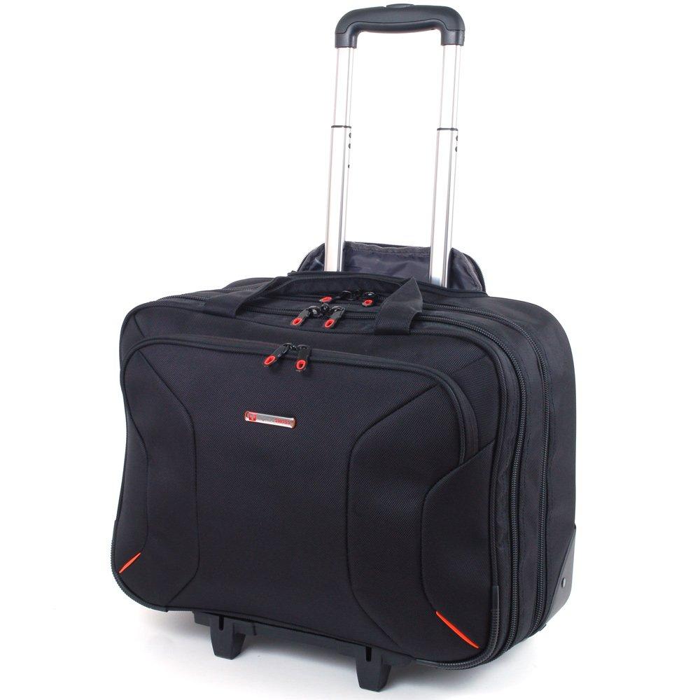 Alpine Swiss Rolling Briefcase on Wheels Roller 17'' Laptop Case W Tablet Sleeve