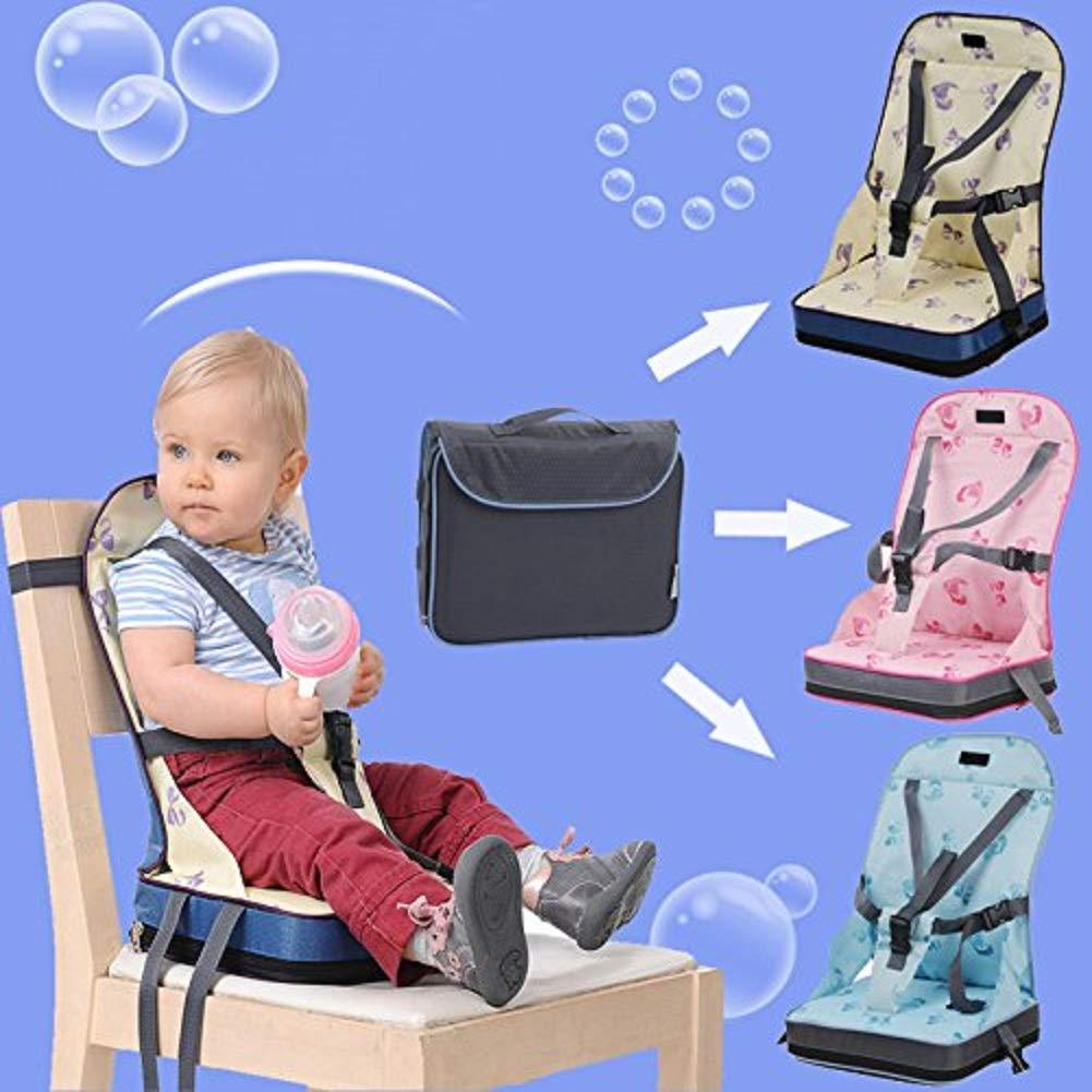 QSJi - Asiento elevador plegable para bebé, asiento plegable ...