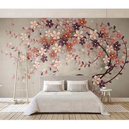 Amazon Com Hwhz Hotel Home Decor Wall Papers 3d Wall Art Flowers