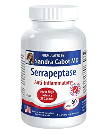 Amazon.com: Serrapeptase Super Alta Potencia 250,00su 60 ...