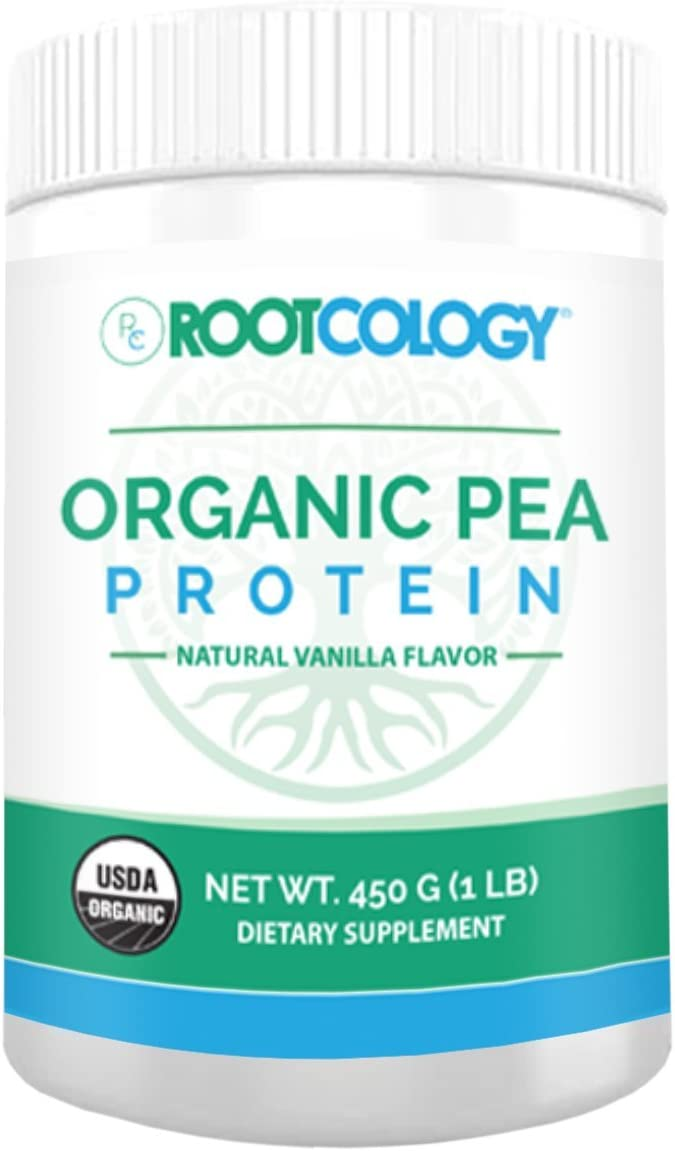 Rootcology Organic Pea Protein Vanilla, 450 Grams, by Izabella Wentz Author of The Hashimoto s Protocol