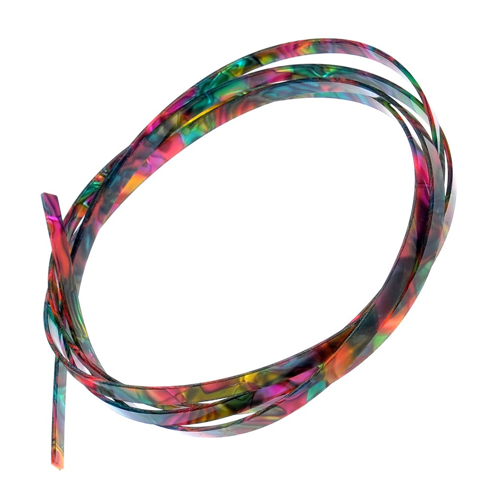 Kmise A1748 10 Piece 5' Colorful Celluloid Binding Body Project Purfling Strip for Guitar
