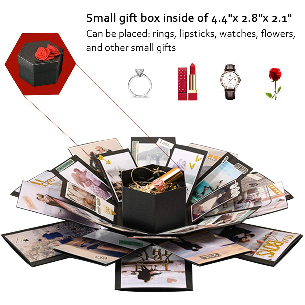 Explosion Gift Box Set Album Scrapbook DIY Photo Album Box for Birthday Anniversary Wedding