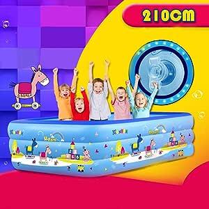Piscina Hinchable con 3 Anillos para niños, para Nadar, Jugar y ...