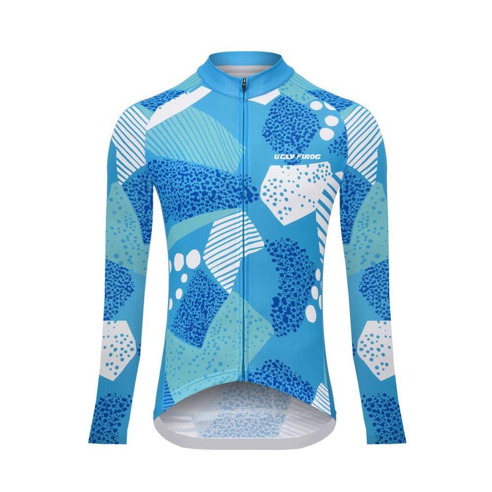 Uglyfrog Damen Winter Fahrradbekleidung Set Lang Verdickte Radtrikot Fahrradtrikot Langarm W/ärmehaltung//Atmungsaktiv//Schnelltrocknend//Hochelastisch XS-4XL ZRWX02