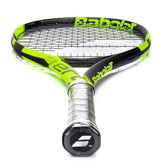 Amazon.com : Babolat Pure Aero Junior 26 Inch Black/Yellow Tennis Racquet (140225) : Sports & Outdoors