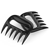 Nuovoware Meat Handler Forks, 2 PCS Bear Paws BBQ Meat Shredder Claws Tools for Shredding Handling & Carving Food, Perfect Shredding Forks Smoked BBQ Meat Grilling Accessories Set, Black