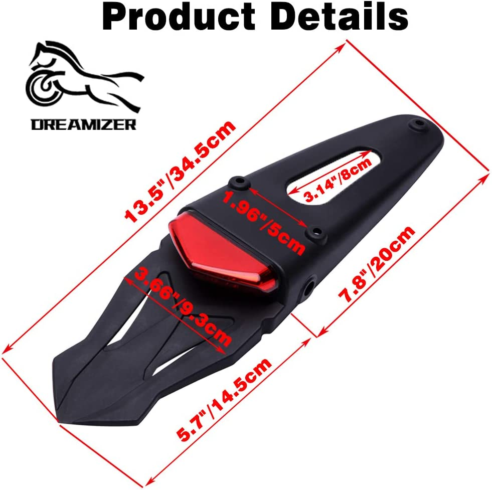 Motorrad Motocross LED Bremsleuchte Hinten mit Halterung f/ür Off-Road SMR 690 CR EXC WRF 250 450 125SX XR DRZ KLX KMX WR125 DREAMIZER Motorrad Dirt Bike Fender R/ücklicht