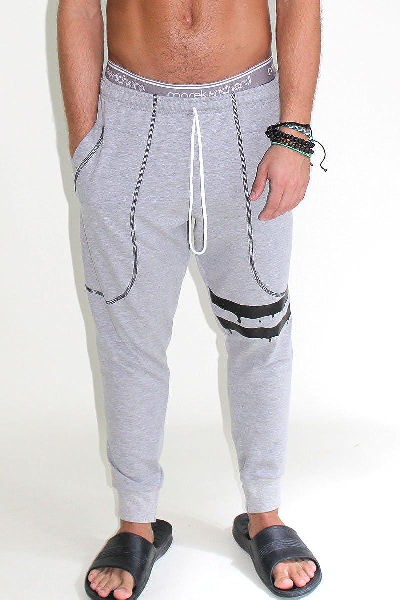 Marek+Richard Mens Varsity Stripe Sweatpants