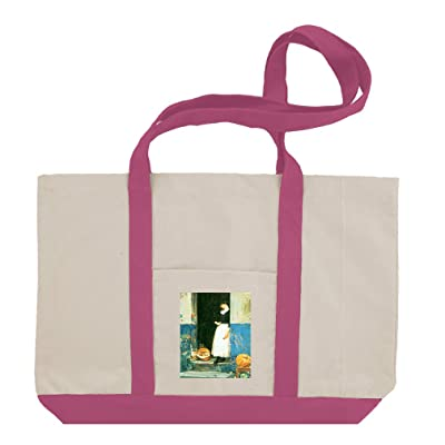 The Fruit Trader (Hassam) Cotton Canvas Boat Tote Bag Tote