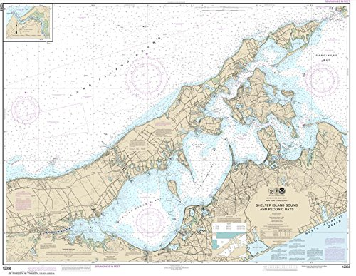 Paradise Cay Publications NOAA Chart 12358: New York Long Island: Shelter Island Sound and Peconic Bays; Mattituck Inlet, 34.8 X 45, TRADITIONAL PAPER