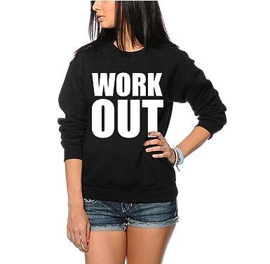 trainieren - Komisch Gym Slogan Hipster Mode Sweatshirt - - Damen Schwarz M  exercise GYM hipster 689f23f478