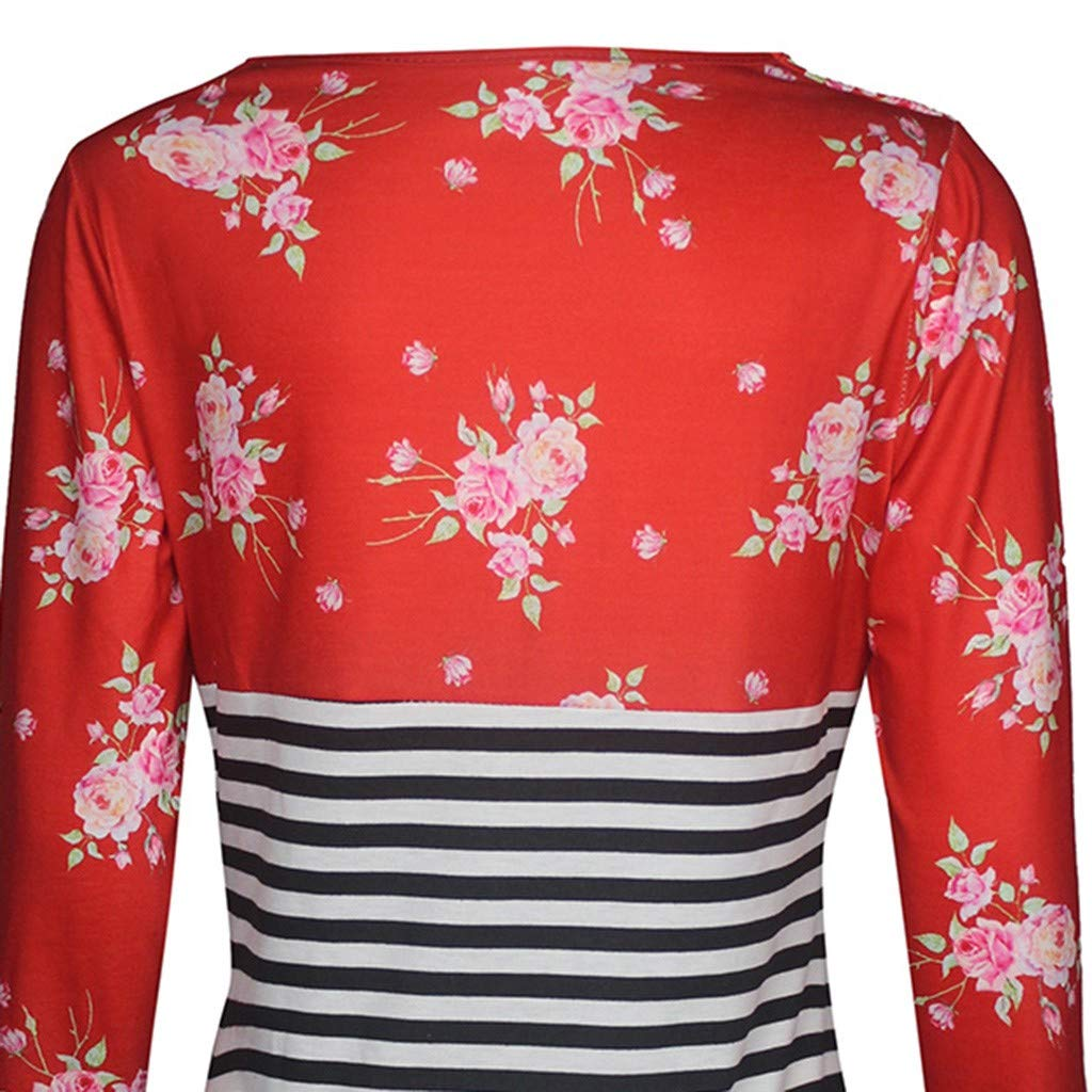BaZhaHei Camiseta De Mujeres Ropa para La Lactancia De Maternidad De Raya para Mujeres Las Mujeres Embarazadas Maternidad Enfermer/íA Raya Lactancia Tops Camisetas Blusa para Mujer Ropa de Madre Traje