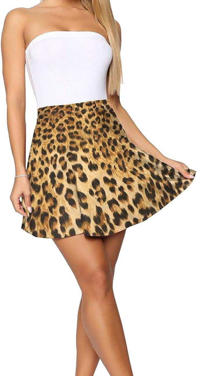 FATHYU Falda de Leopardo con Estampado de Animales, para niñas y ...