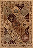 Momeni Rugs BELMOBE-01BUR2030 Belmont Collection Traditional Area Rug, 2' x 3', Burgundy