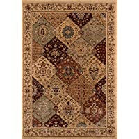 Momeni Rugs BELMOBE-01BUR2030 Belmont Collection Traditional Area Rug, 2 x 3, Burgundy