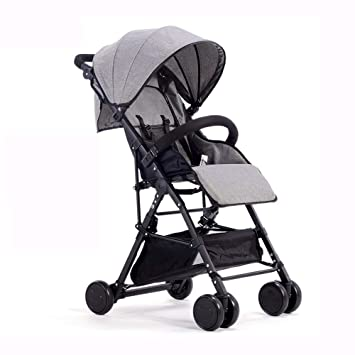 8d4d361cd Amazon.com   Bck Sitting or Lying High Landscape Baby Stroller Folding  Ultra Light Portable Shock Absorber Kids Simple Trolley Easy to Clean  Comfortable and ...