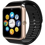 Smart Watch, CulturesIn GT08 Touch Screen Bluetooth dell'orologio con la macchina fotografica / SIM Card Slot / analisi contapassi / sleep Monitoraggio per Android (funzioni complete) e IOS (funzioni parziali) (gold)