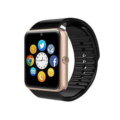 0a1090cdb Reloj Inteligente, GT08 Pulsera con Pantalla Táctil Bluetooth con Cámara/Ranura  para Tarjeta SIM