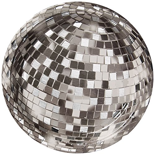 """Talking Tables Glitterati Disco Ball Plate 7"""" for Weddings, Celebrations, Parties,  (12 Pack)"""