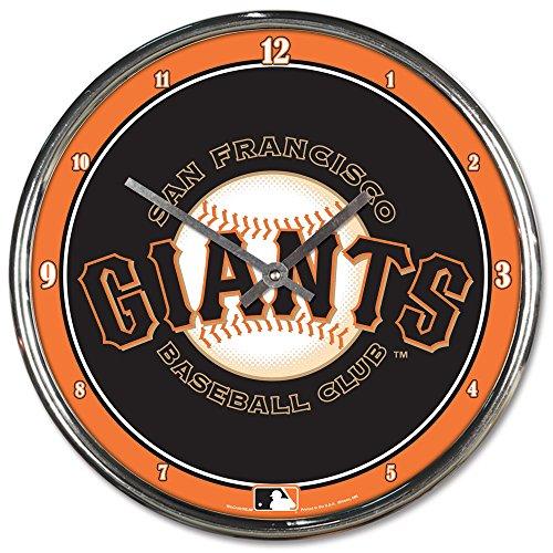 MLB San Francisco Giants Chrome Clock, 12