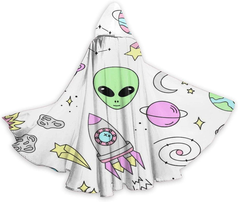 TYHG - Capa unisex para adultos, con capucha, para Halloween, juego de roles, 3D, espacio exterior, planetas, fiesta de Navidad, para mujeres, hombres, cosplay