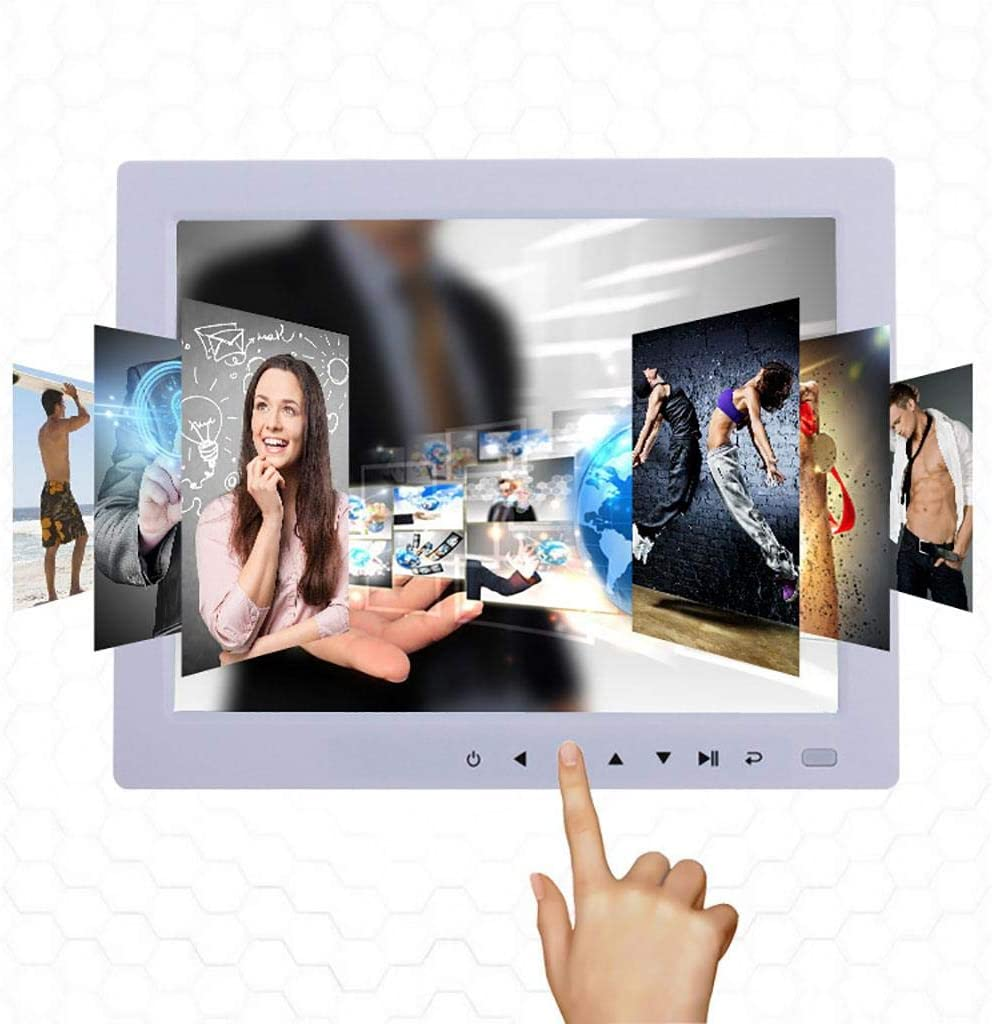 HD IPS Display 10 Inch USB Digital Photo Frame Motion Sensor Auto-Rotate Remote Control Mix Photos and Videos in The Same Slideshow Black