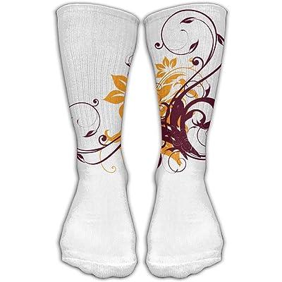 YUANSHAN Socks Flowers Women & Men Socks Soccer Sock Sport Tube Stockings Length 11.8Inch