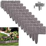 花壇フェンス ガーデンエッジ Shsyue DIY ガーデンフェンス 森の花園 土ストッパー ラティス 根止め 芝生 北欧風 レンガ石調 10枚入