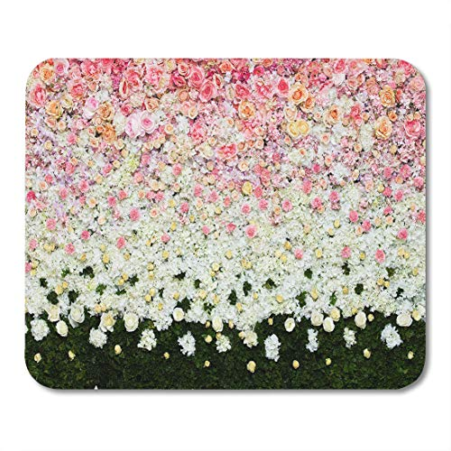 Emvency Mouse Pads Pink Colorful Announcement Beautiful Flowers