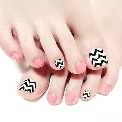 Arte de uñas y pegamento patrón de onda artificial uñas falsas longitud perfecta color puro cubierta