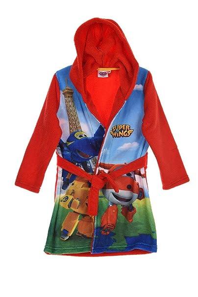 Super Wings - Albornoz - para niño rojo rosso 3 años