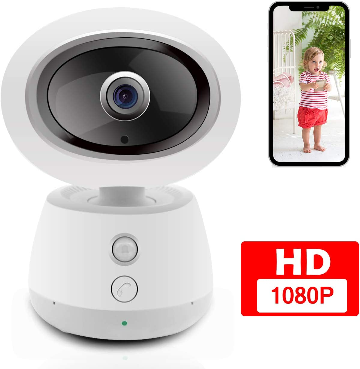 Wireless Home Camera-Baby Monitor for Home Security 1080P HD Cloud Storage Indoor Dog Cat Pet-Camera