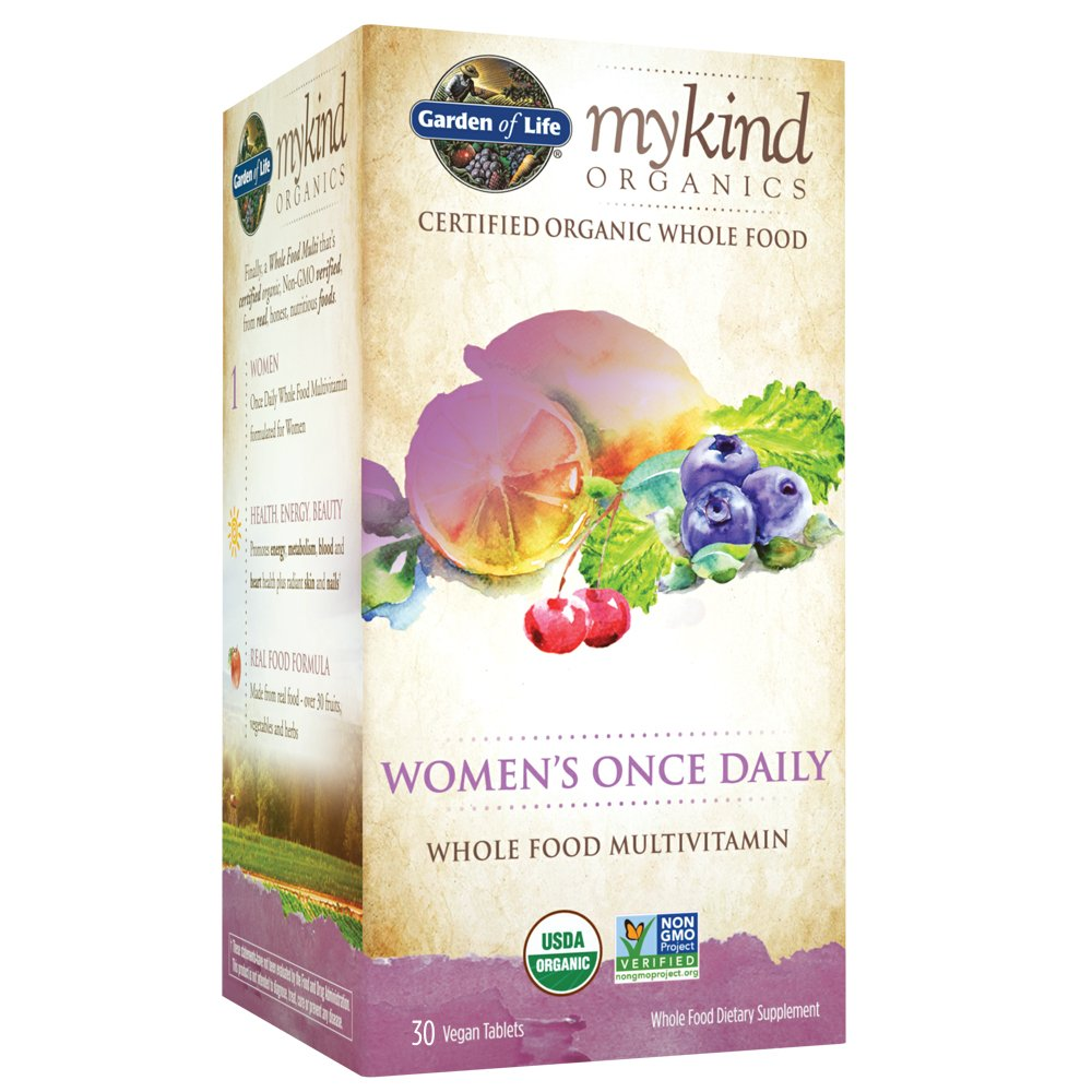 Garden of Life Multivitamin for Women - mykind Organic Women's Once Daily Whole Food Vitamin Supplement, Vegan, 30 Tablets